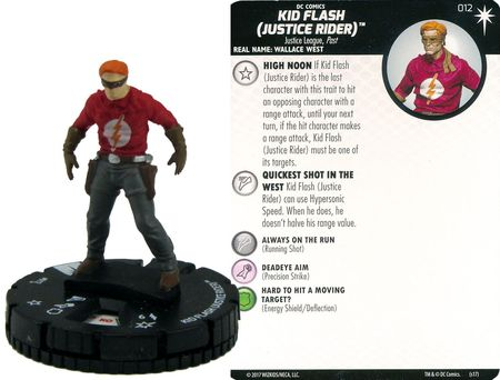 HEROCLIX #012 KID FLASH 15th ANNIVERSARY ELSEWORLDS
