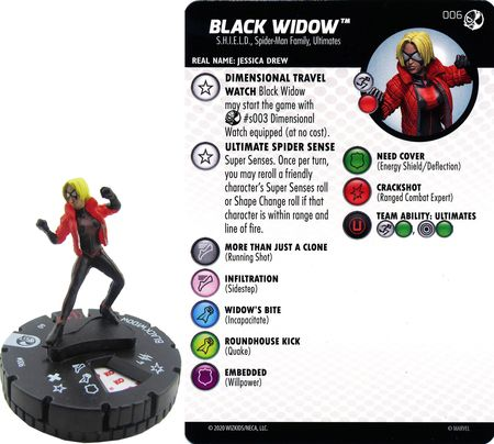 HEROCLIX #006 BLACK WIDOW SPIDER-MAN AND VENOM ABSOLUTE CARNAGE