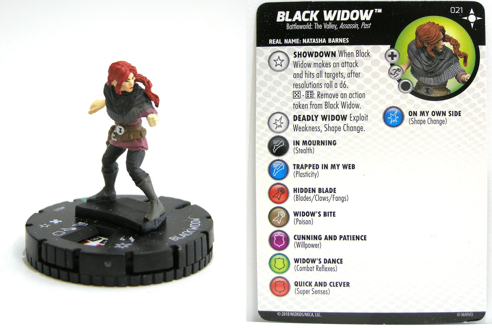 HEROCLIX #021 BLACK WIDOW SECRET WARS BATTLEWORLD