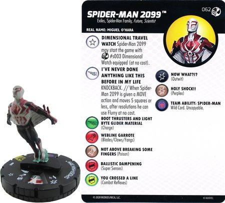 HEROCLIX #062 SPIDER-MAN 2099  SPIDER-MAN AND VENOM ABSOLUTE CARNAGE
