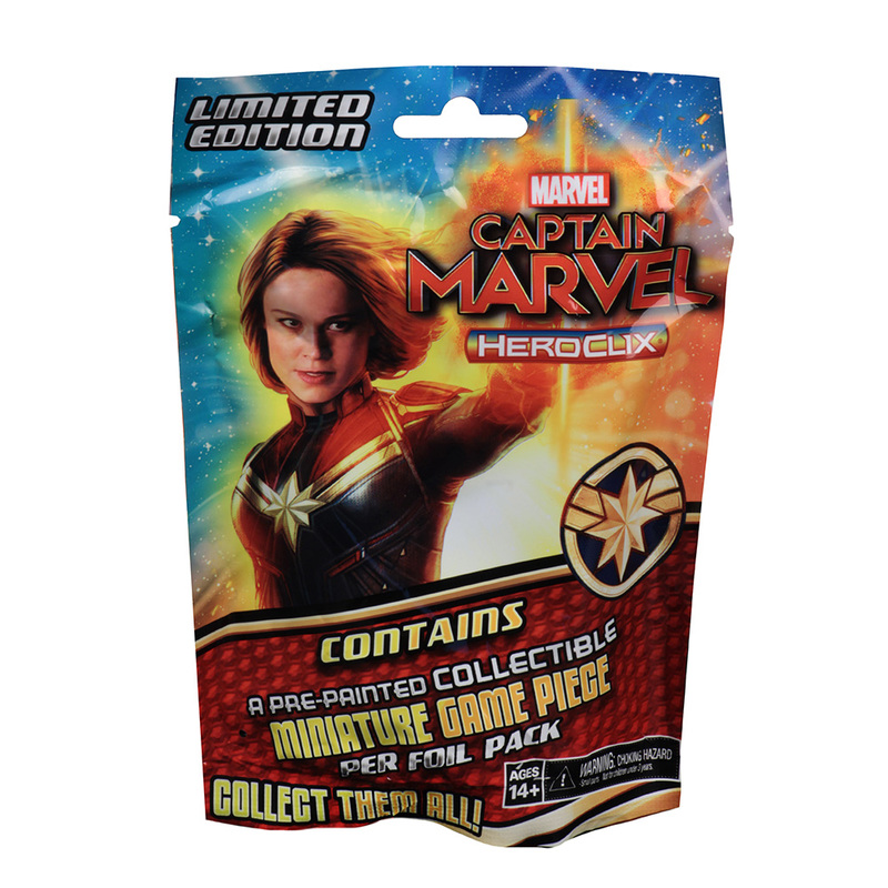 HEROCLIX MARVEL CAPITAN MARVEL MOVIE GRAVITY FEED