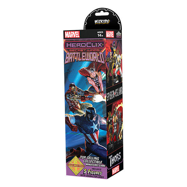 HEROCLIX MARVEL SECRET WARS BATTLEWORLD BOOSTER PACK