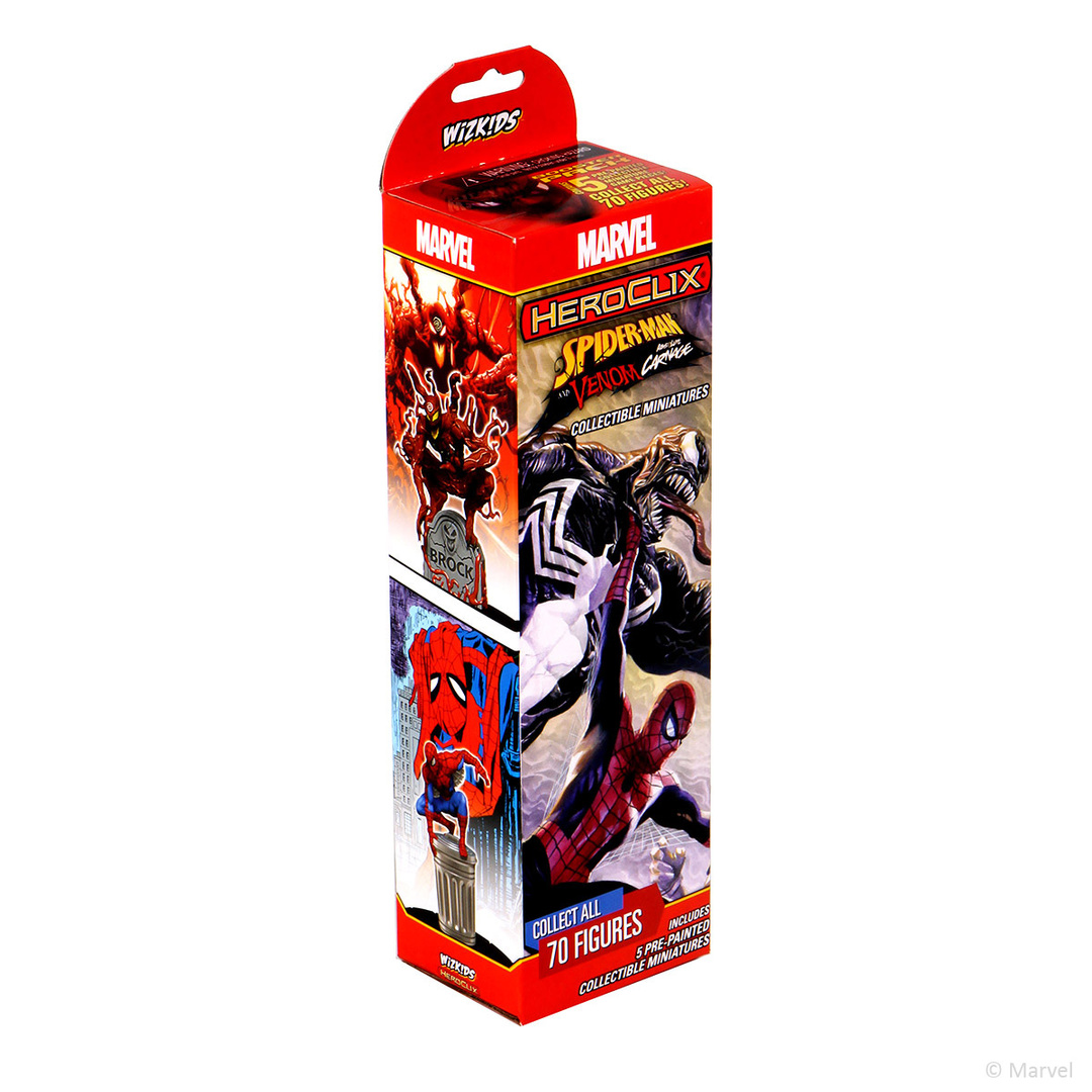 HEROCLIX MARVEL SPIDER-MAN AND VENOM ABSOLUTE CARNAGE BOOSTER PACK