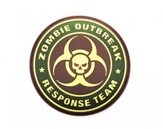 ZOMBIE OUTBREAK RESPONSE TEAM 3D PVC PATCH GREEN